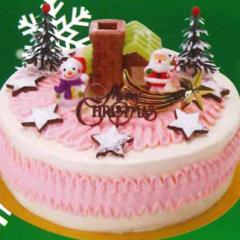 クリスマスバタークリームデコレーションケーキ